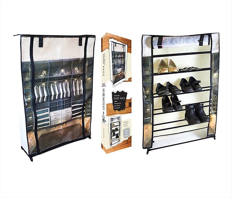 Shoe Rack Non Woven 6 Tier Storage Organiser Dust Protection Easy Assembly