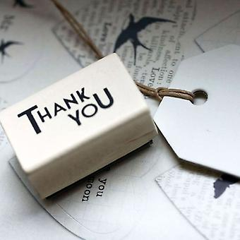 East of India Thank You Rubber Stamp / DIY Wedding Favours/ Gift Tags / Craft