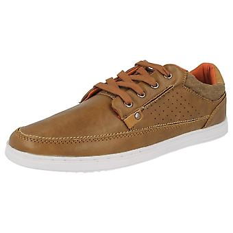 Mens Lambretta Casual Lace Up Shoes - Spoons Lo