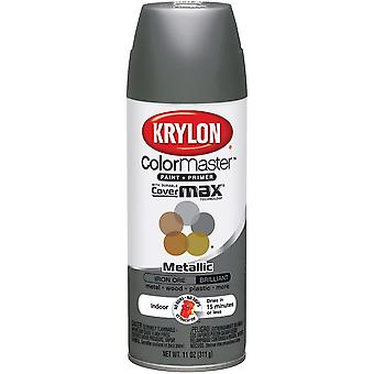Colormaster Indoor/Outdoor Aerosol Paint 12oz-Iron Ore Matte 1000A-3592