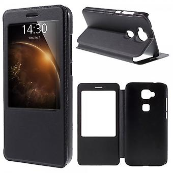 Booktasche window black for Huawei G8 5.5 inch
