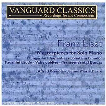 F. Liszt - Liszt: Mesterværker for Solo klaver, Vol. 1 [CD] USA import