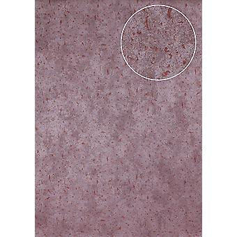 Stone tiles wallpaper Atlas ICO-5073-8 non-woven wallpaper smooth mottled shimmering purple wine red 7,035 m2