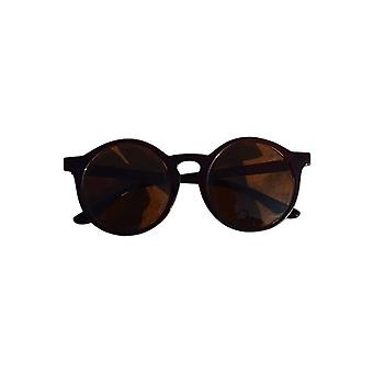 Urban style sunglasses with round glass Brown