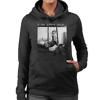 Paul Weller With Teddybear Women's Hooded Sweatshirt