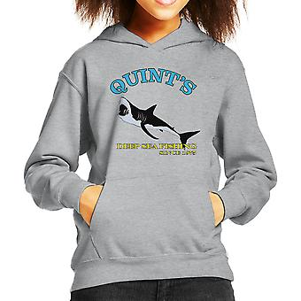 Quints Deep Sea Fishing seit 1975 Kiefer Kinder Sweatshirt mit Kapuze