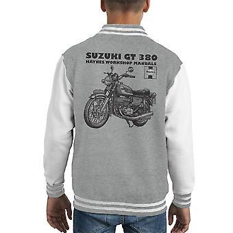 Haynes Owners Workshop Manual Suzuki GT 380 Triple Kid's Varsity Jacket