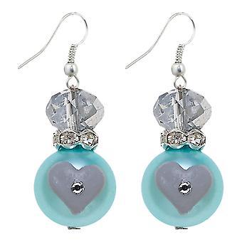 Blå Dazzle Rhinestone glas Beaded Kate og Macy gennemboret øreringe Clementine