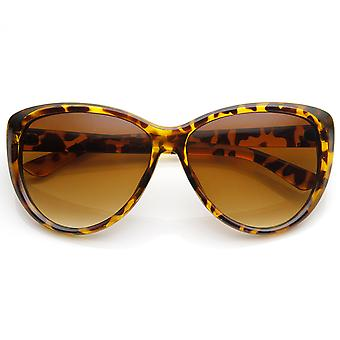 Womens Oversized High Fashion Cat Eye zonnebril