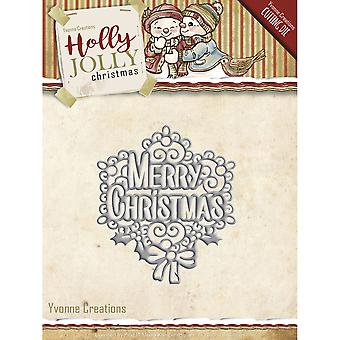Find It Trading Yvonne Creations Holly Jolly Die-Merry Christmas YCD10075