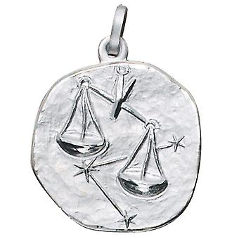 Trailer Zodiac balance 925 sterling silver frosted zodiac sign pendant