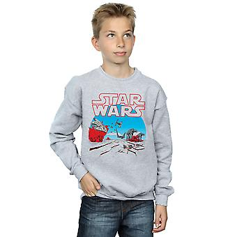 Star Wars Boys The Last Jedi Action Scene Sweatshirt