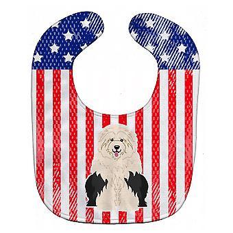 Carolines Treasures  BB3091BIB Patriotic USA Old English Sheepdog Baby Bib