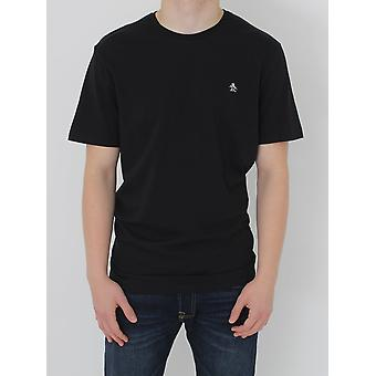 Penguin Pin Point Embroidery T.Shirt - Black