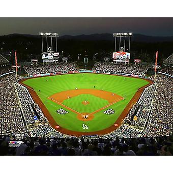 Dodger Stadium jeu 1 de l'impression de Photo de 2017 World Series