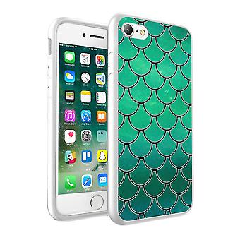 i-Tronixs Nokia 6 Green Fish Scale Design Printed Case Skin Cover - 002