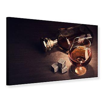 Canvas afdrukken een glas Cognac