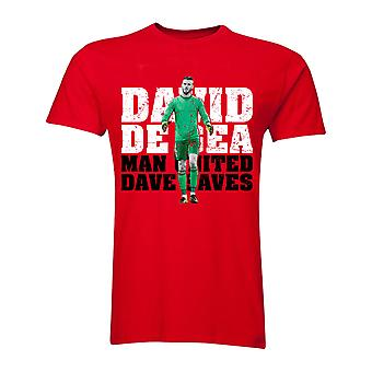 David De Gea Manchester United Torwart T-Shirt (rot)