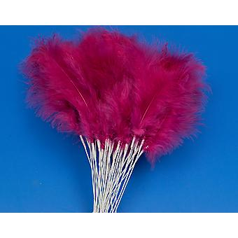 36 Fuchsia Pink Feather Spray Picks for Floristry & Craft Projects