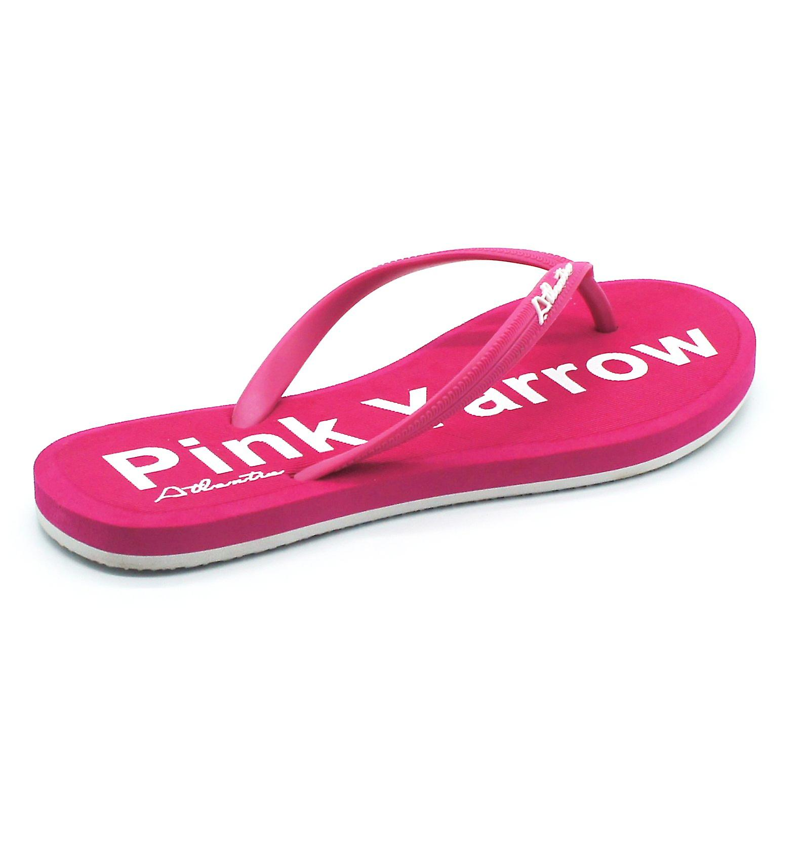 Atlantis Shoes Women Supportive Cushioned Comfortable Sandals Flip Flops Simply Colorful Pink Yarrow