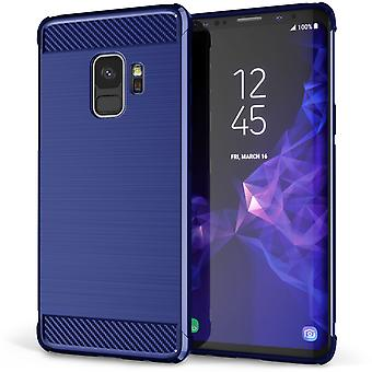 Samsung Galaxy S9 Carbon Anti-Herbst TPU Case - blau
