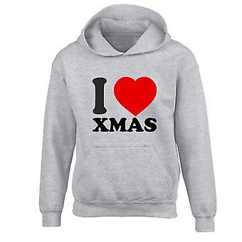 Yo amor Navidad Navidad niños con capucha 10 colores (S-XL) por swagwear