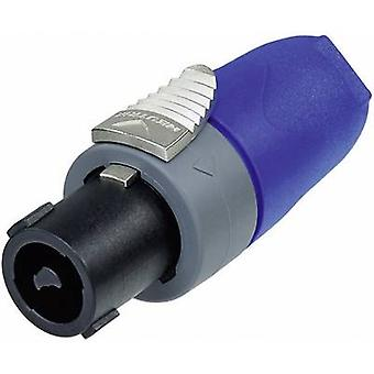 Audio jack Plug, straight Number of pins: 2 Black, Blue Neutrik NL2FX 1 pc(s)