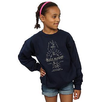 Looney Tunes Girls Bugs Bunny A Wild Hare Sweatshirt