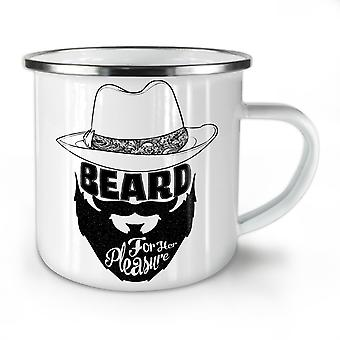 Beard Her Pleasure NEW WhiteTea Coffee Enamel Mug10 oz | Wellcoda