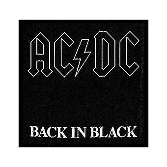 AC/DC Patch Back in Black Band Logo new Official woven sew on Black
