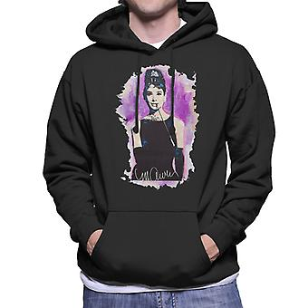 Sidney Maurer Original Portrait Of Audrey Hepburn Men's Hooded Sweatshirt