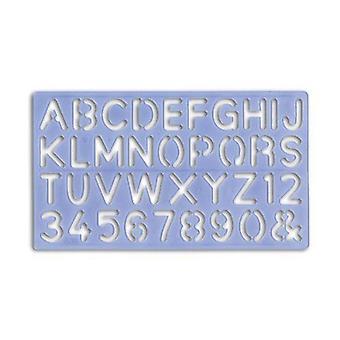Großbuchstaben & Kleinbuchstaben & Zahlen Schablonen 5mm bis 30mm