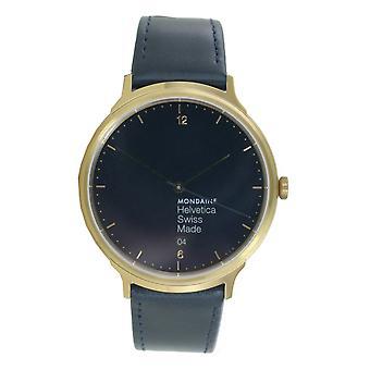 Mondaine ladies watch Helvetica No1 wristwatch MH1. L2241. LD leather