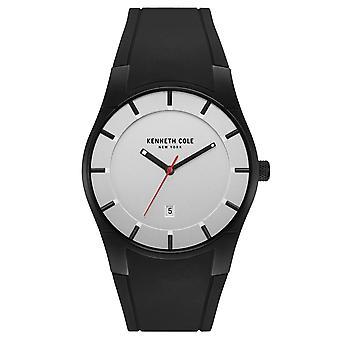 Kenneth Cole New York mannen pols horloge analoog kwarts siliconen 10031266