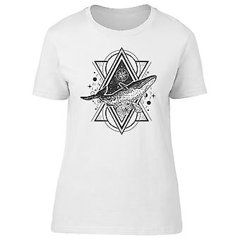 Whale And Waves Triangle Tattoo Tee Women's -Image by Shutterstock
