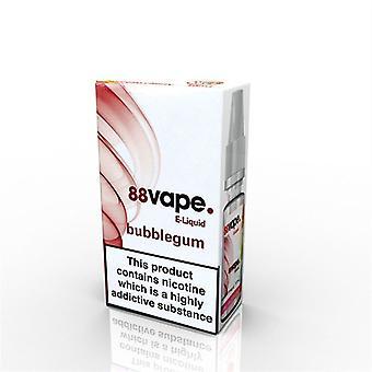 88 Vape E-Liquid Nicotine 16mg Bubblegum 10ML