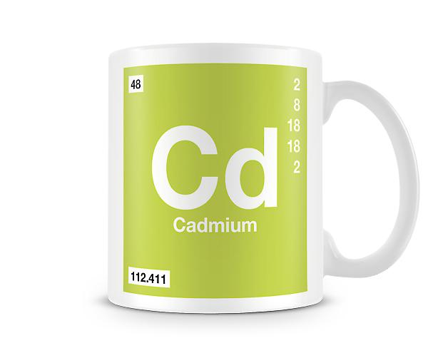 Element Symbol 048 Cd - Cadmium Printed Mug
