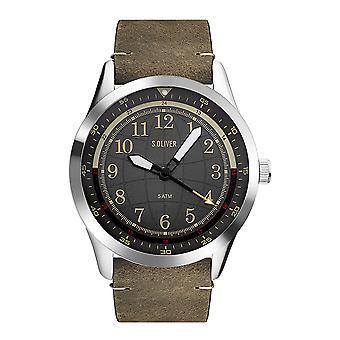 s.Oliver Мужские Часы наручные часы кожа так-3575-LQ