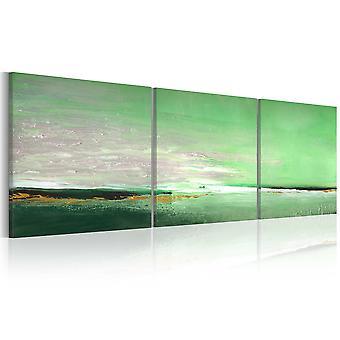 Håndlavede maleri - havet-grønne kyst