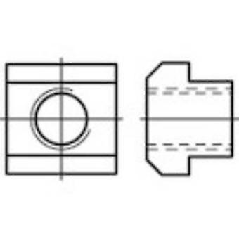 TOOLCRAFT 107986 M8 tuercas en T 12 mm DIN 508 acero 25 PC