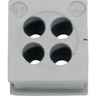 Icotek QT 4/6 Cable grommet Terminal Ø (max.) 6 mm Elastomer Grey 1 pc(s)