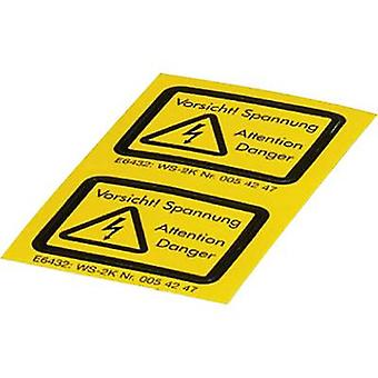Combo caution sign Achtung Vorsicht! Spannung Self-adhesive film