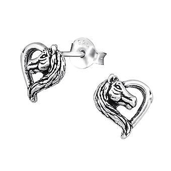 Paard - 925 Sterling Zilver Plain Ear Studs - W31863x