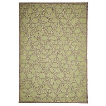 In - and outdoor carpet balcony / living room Fiore green natural 160 x 230 cm