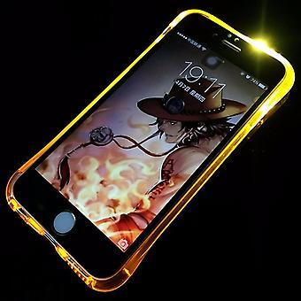 Handy Hülle LED Licht bei Anruf für Handy Apple iPhone 8 Plus Gold