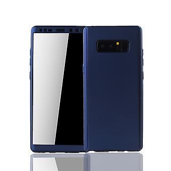 Samsung Galaxy touch 8 Mobile Shell Schutzcase full 360 display skydd skyddsplasten blå