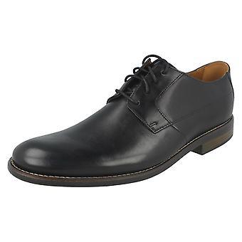 Mens Clarks Smart sko Becken ren