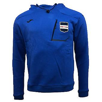 2018-2019 Sampdoria Joma Hooded Sweatshirt (Blue)