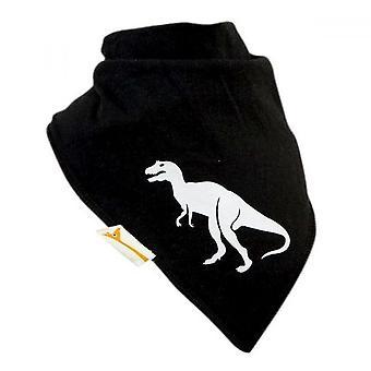 Black & white dinosaur xxl bandana bib