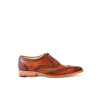 Handcrafted Premium Leather Jade Brogues Brown Leather
